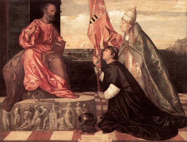 Tintoretto Pope Alexander IV Presenting Jacopo Pesaro to St Peter